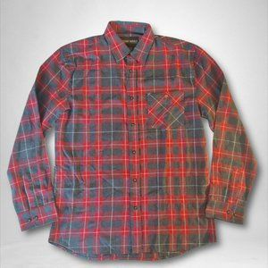 Outdoor Life Mens Red Gray Button Up Shirt Size L